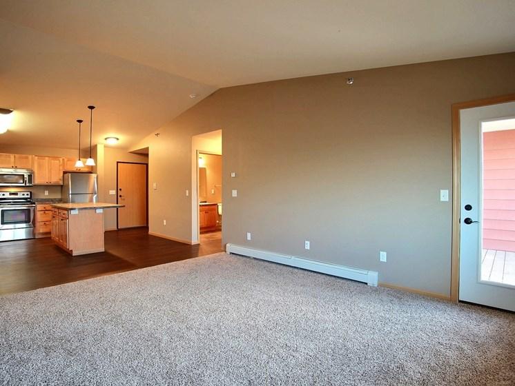 Urban Plains Apartments   1 Bdrm - Living Room-Plan A