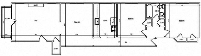 Mapleview Two Bedroom Floor Plan 7