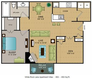 A3 - One Bedroom w/Den