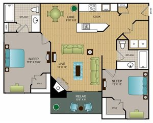 B1 - Two Bedroom