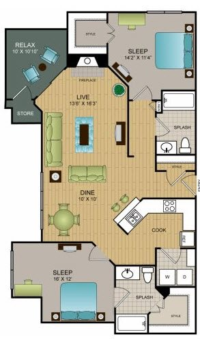 B2 - Two Bedroom