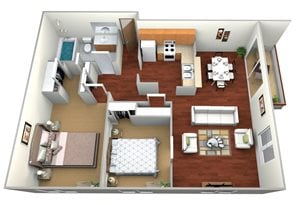 Crystal/Waldorf 2 Bed, 1 Bath Small