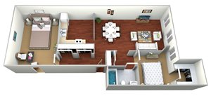 deLendrecies  2 Bed, 1 Bath