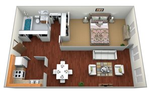 deLendrecies 1 Bed, 1 Bath Medium