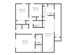 Three Bedroom Two Bath (E)
