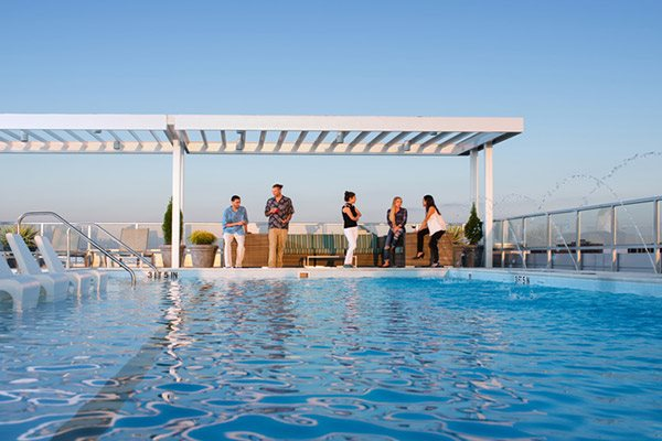 Verde Point's relaxing rooftop pool