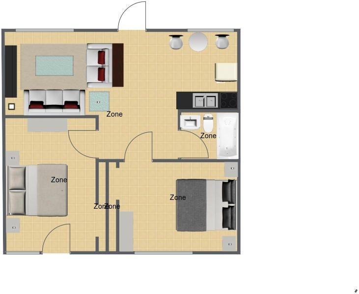The Orange Blossom Floor Plan 1