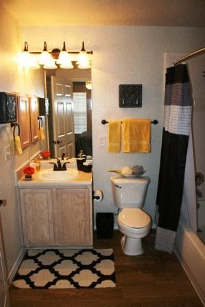 Cleburne Terrace Apartments Hall Bathroom