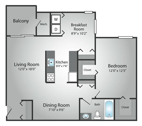 One Bedroom / 1 Bath