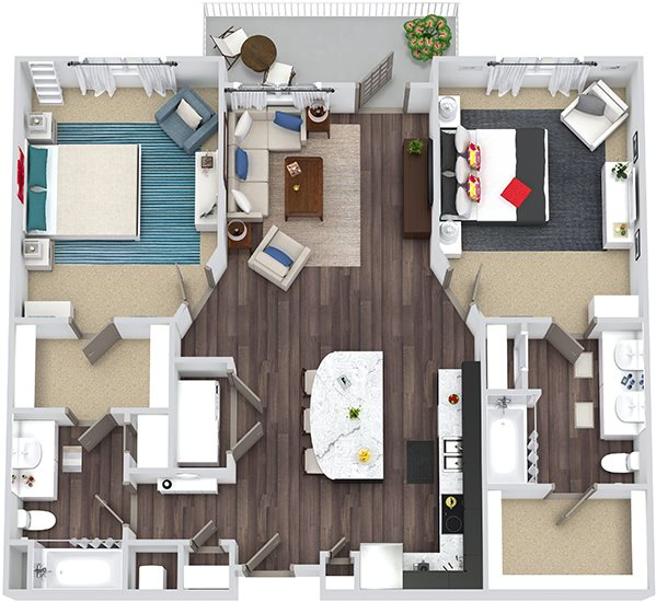 Floor Plans Of The Bristol In Morrisville, NC