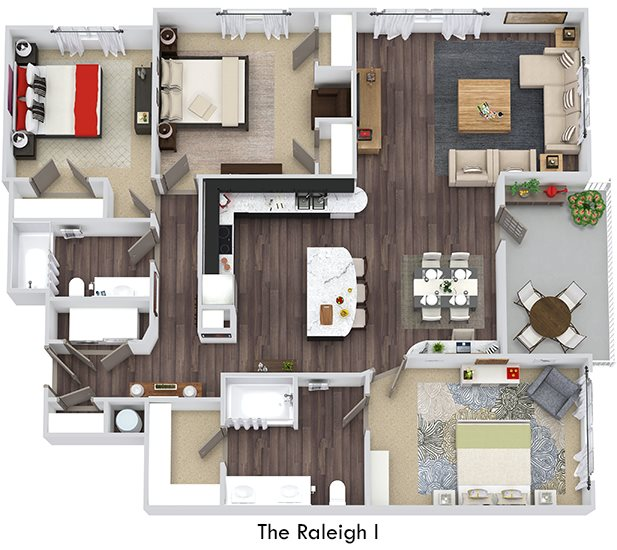 Bristol Park Apartments: Floor Plans Of The Bristol In Morrisville, NC