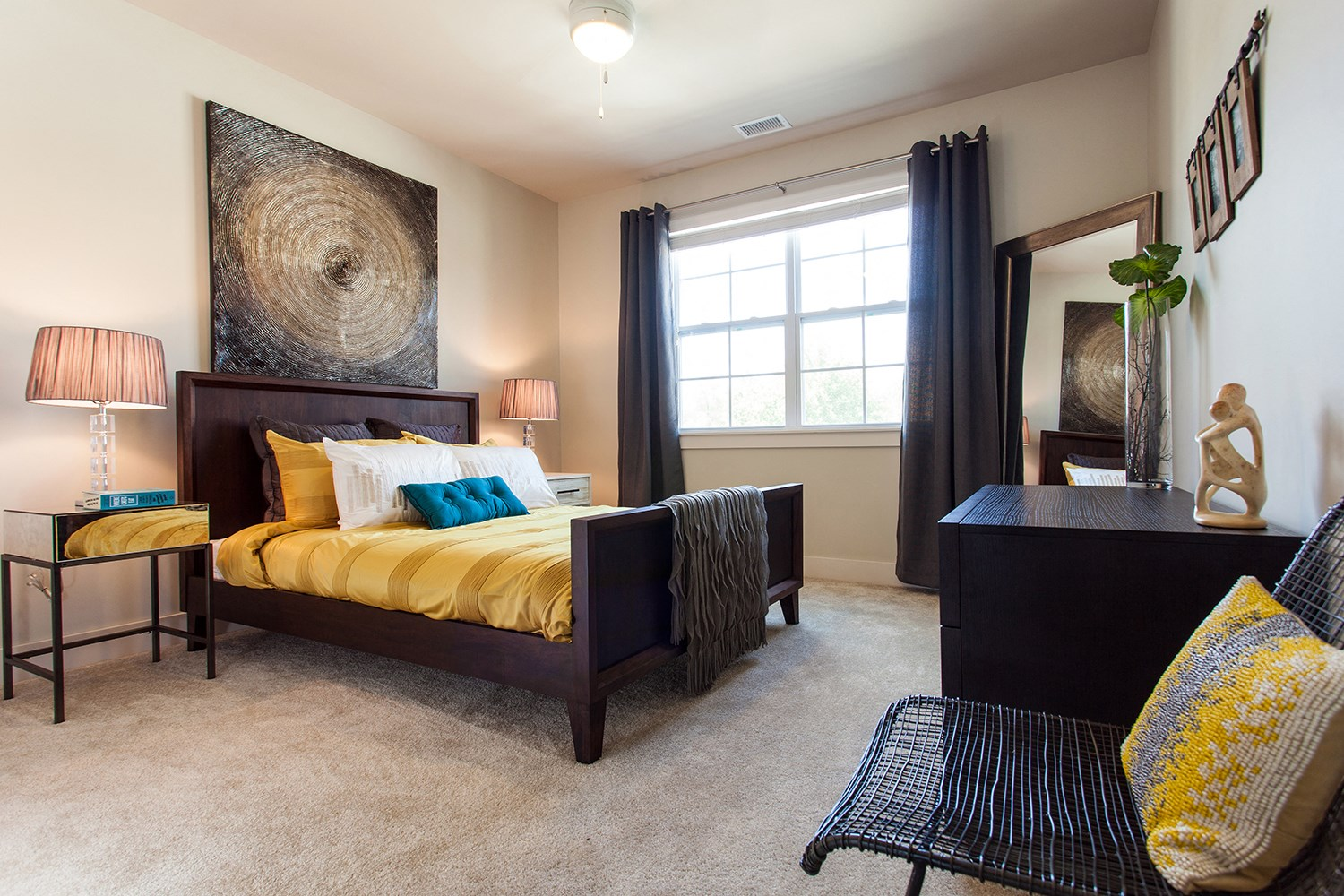 Bedroom at Solana at the Crossing Apartments in Indianapolis, IN