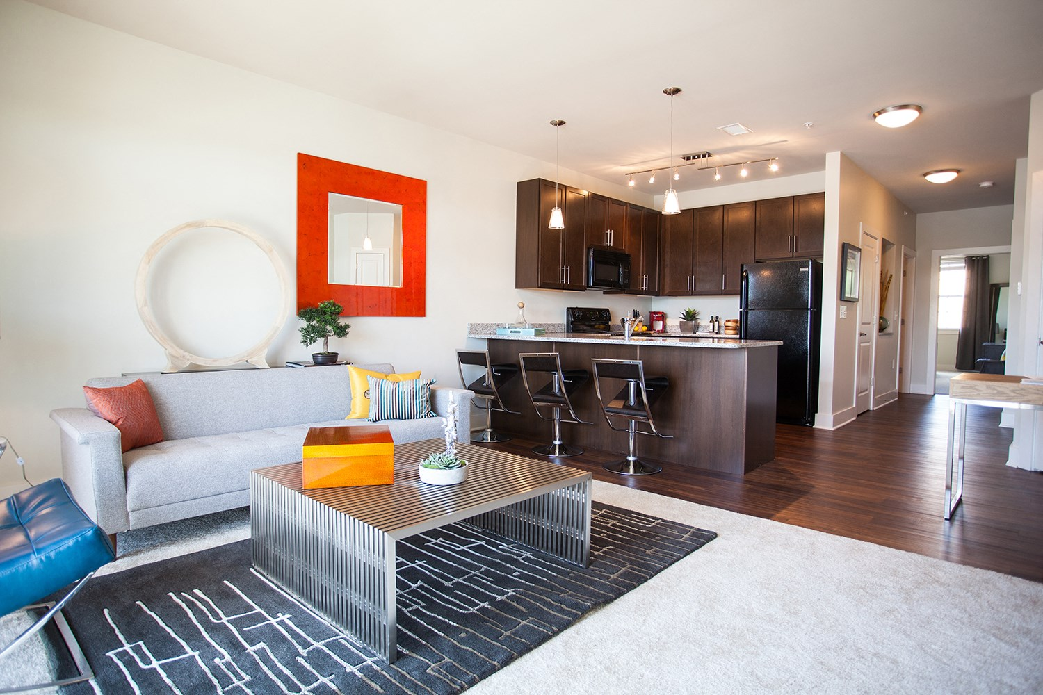 Open Living Spaces at Solana at the Crossing Apartments in Indianapolis, IN