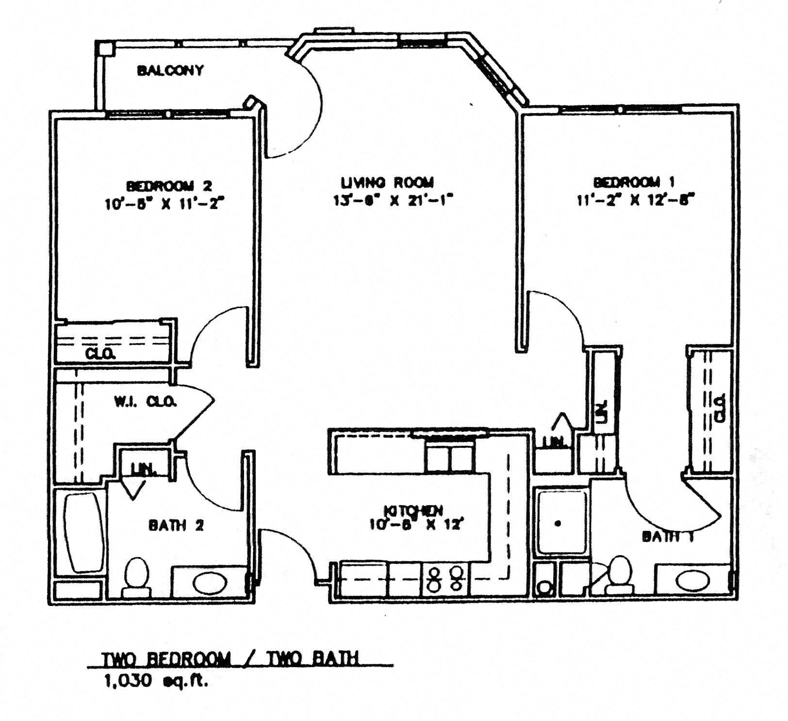 Two Bedroom w/Patio (Income Limits Per Household: 1 person -  $30,840/ 2 person $35,220) Floor Plan 4