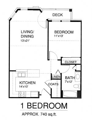 One Bedroom with Patio (Income Limits Per Household: 1 person -  $30,840/ 2 person $35,220)