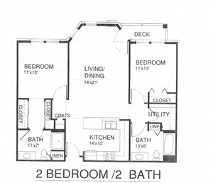 Two Bedroom Two Bath w/Patio & Laundry