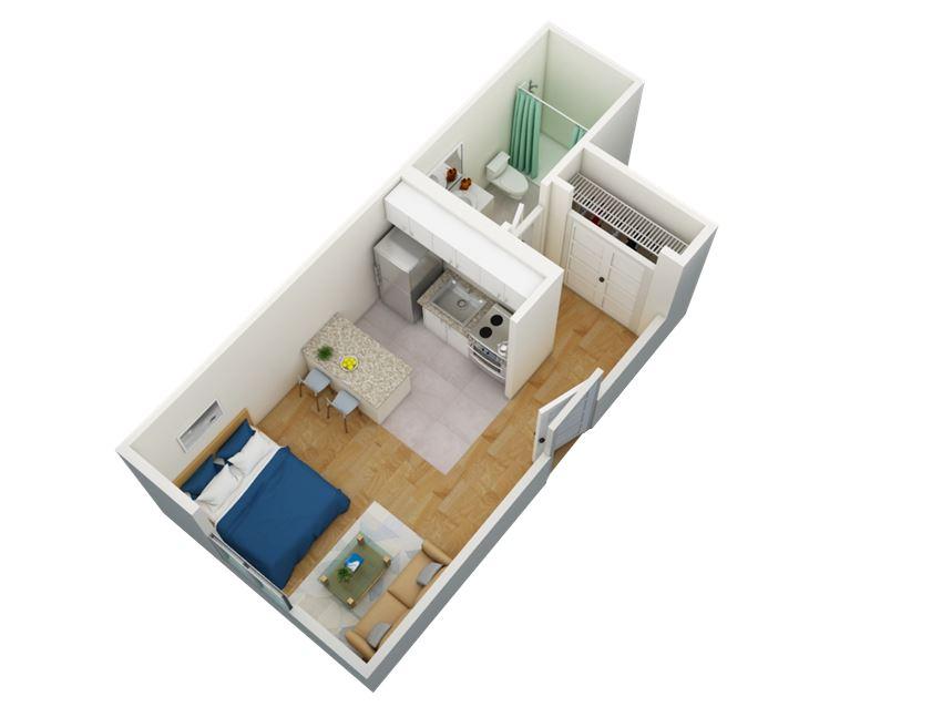 Fifteen50 Studio Floorplan