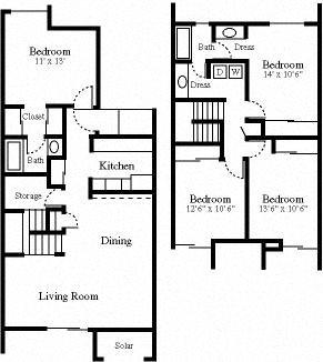 4x2 Townhouse Floor Plan 4