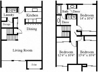 3x1.5 Townhouse Floor Plan 3