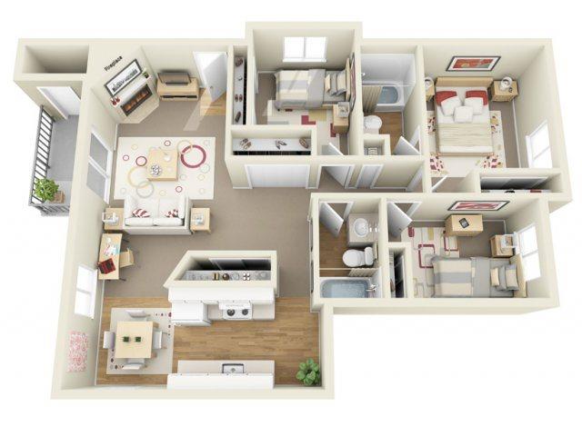 D Floor Plan 7