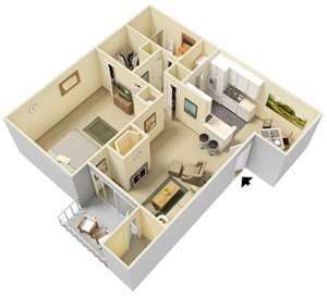 One Bedroom   One Bathroom