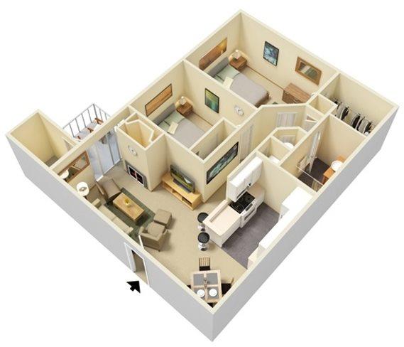 Two Bedroom | One Bathroom