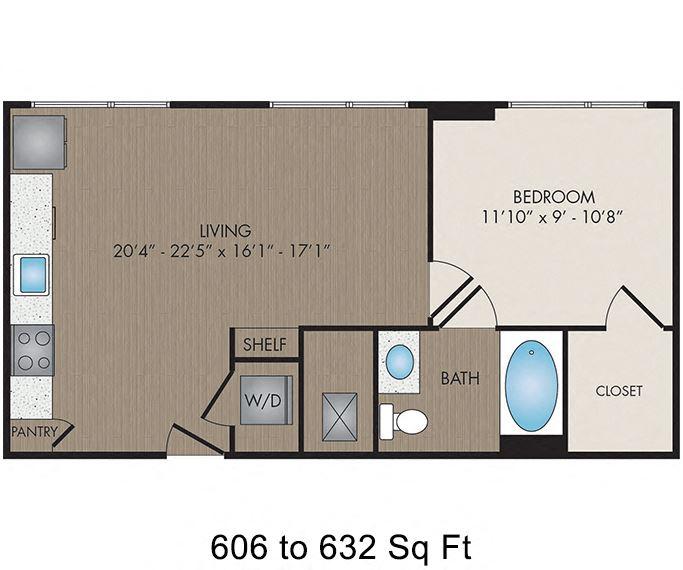 Hartley Flats - Denver, CO - Alla Prima I floor plan