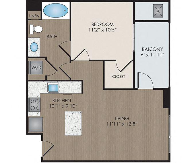 Hartley Flats - Denver, CO - Bistre floor plan