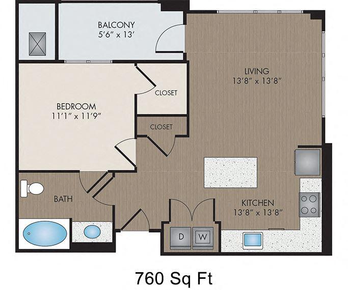 Hartley Flats - Denver, CO - Chroma I floor plan