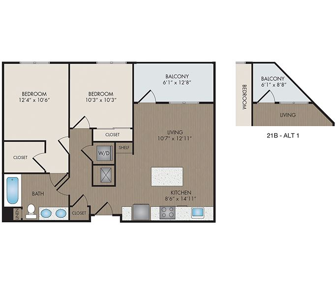 Hartley Flats - Denver, CO - Mosaic floor plan