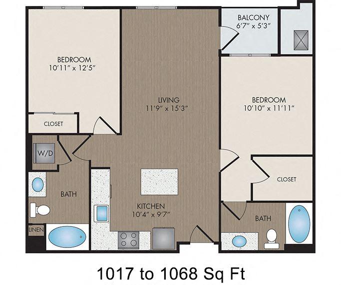 Hartley Flats - Denver, CO - Verdaccio I floor plan