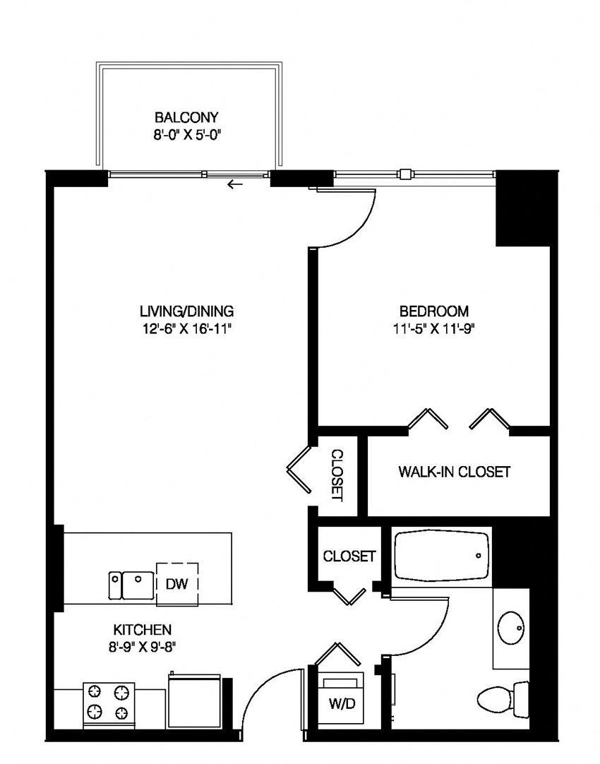 1A - 1 Bedroom