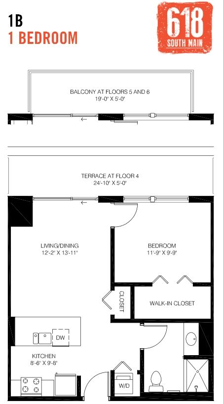 1B -1 Bedroom