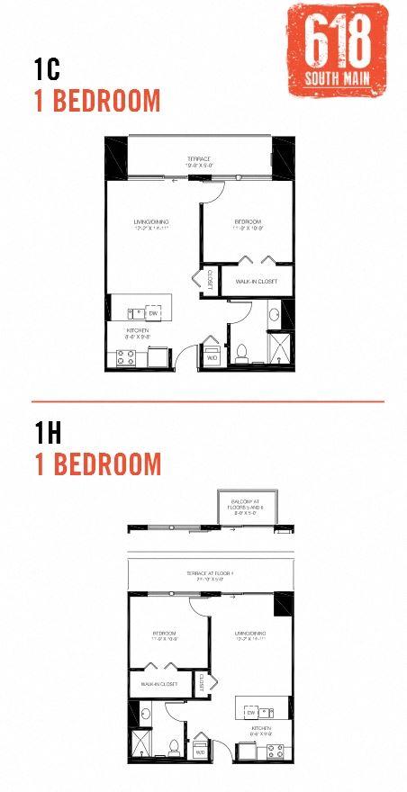 1C/1H -1 Bedroom