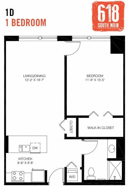 1D -1 Bedroom