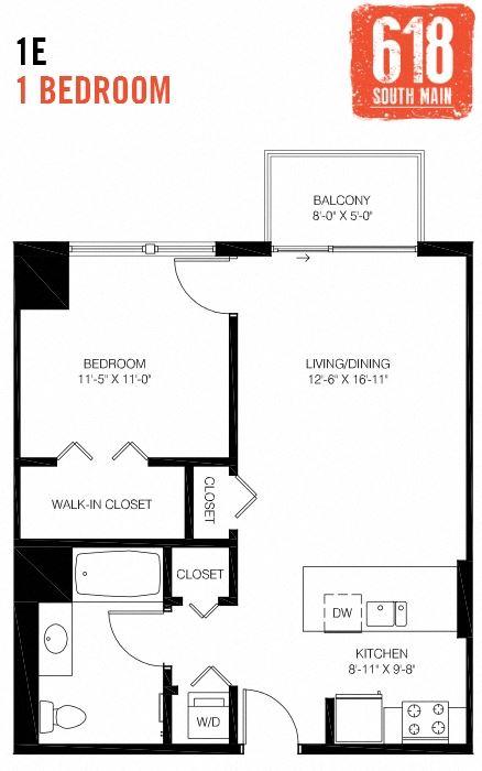 1E -1 Bedroom