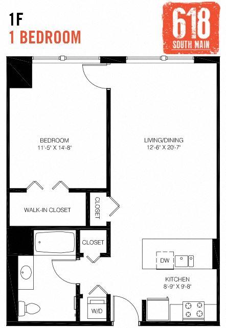 1F -1 Bedroom