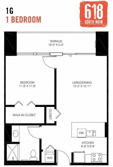 1G -1 Bedroom