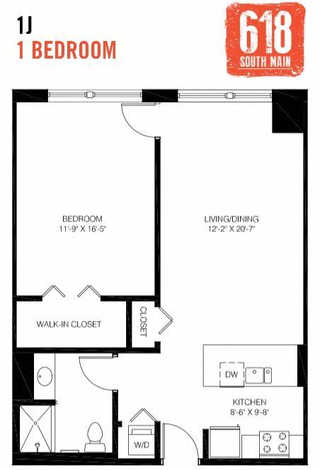 1J -1 Bedroom
