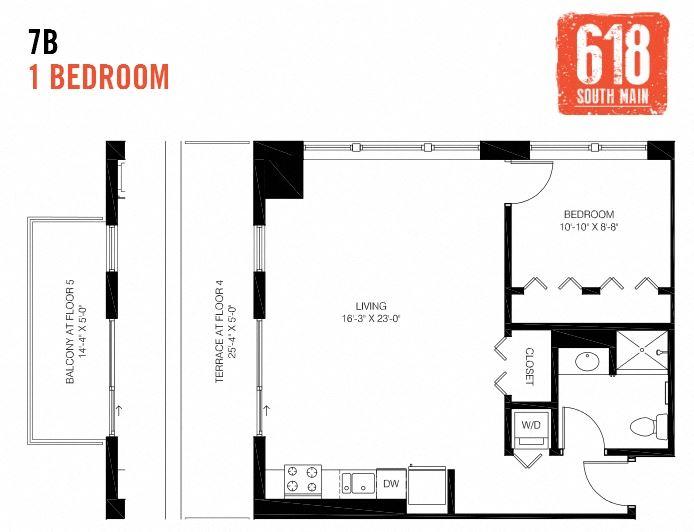 7B - 1 Bedroom