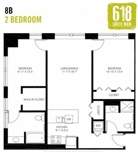 8B - 2 Bedroom