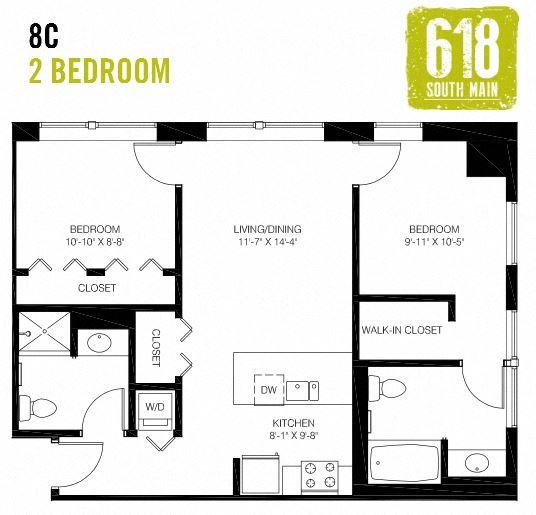 8C- 2 Bedroom
