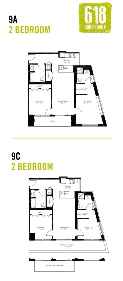 9A/9C - 2 Bedroom