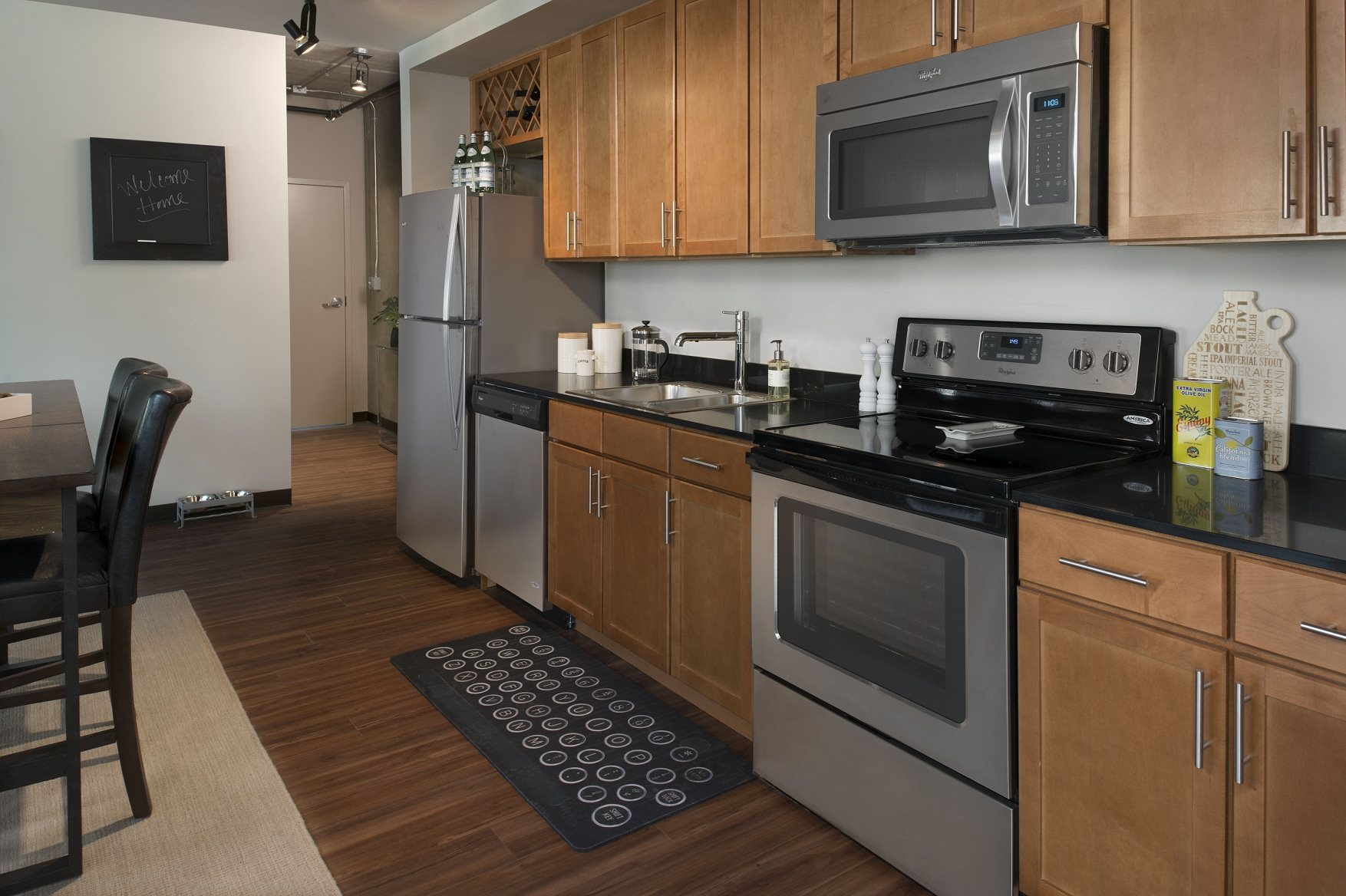 stainless steel appliances in open kitchens, 618 South Main, 48104