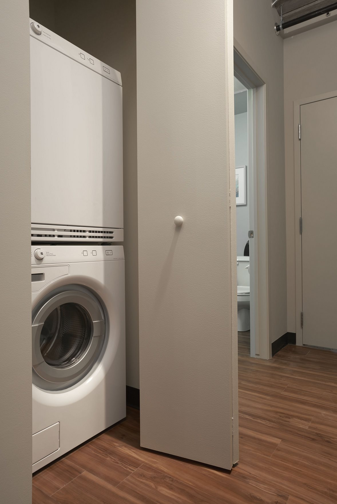 Enclosed washer and dryer in every home at 618 South Main 48104.