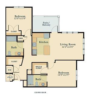 2 Bedroom Corner