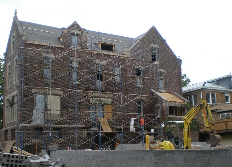 Exterior view of property while under construction 2