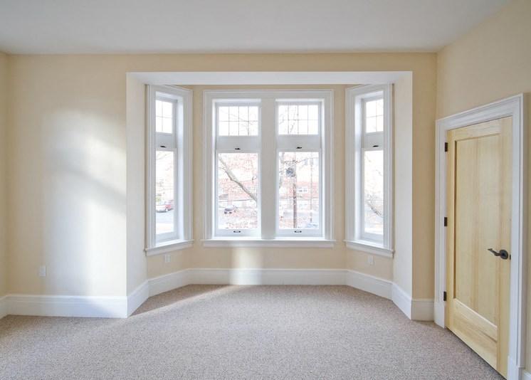 Living room with window nook
