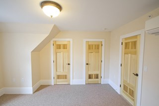 Living room and closet/room doors