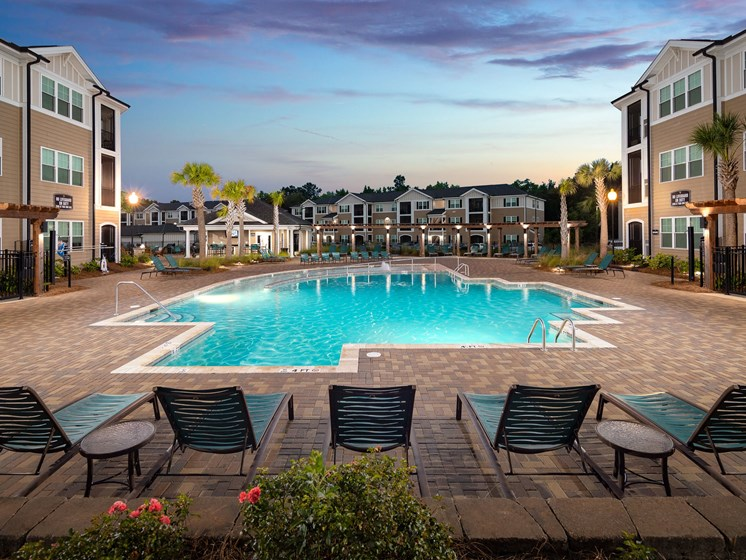 Resort Inspired Pool at Abberly Crossing Apartment Homes by HHHunt, Ladson